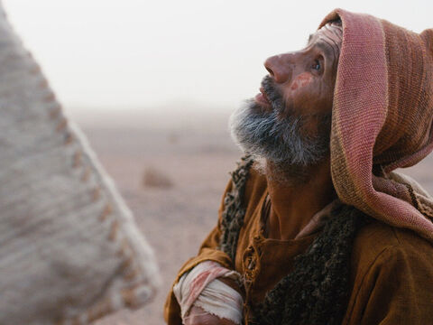 The man went up to Jesus and knelt down before Him. Jesus did not move away. He begged Jesus, 'Lord, if you are willing, you can make me clean.' – Slide 6