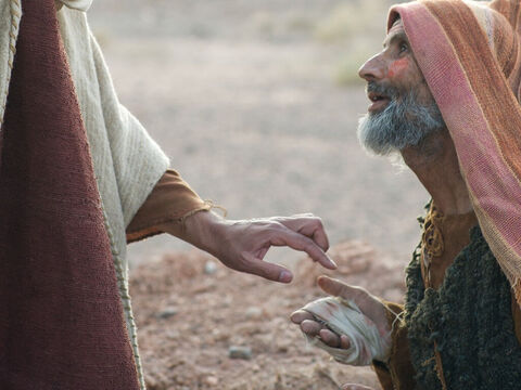 Jesus did something no-one was expecting Him to do. He reached out and touched the man with leprosy. – Slide 7