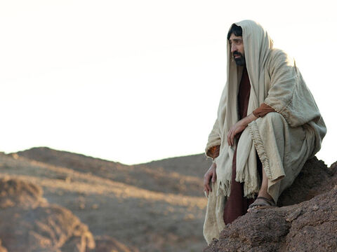 So, Jesus often withdrew from the crowds and went into the wilderness to be alone and pray. – Slide 12