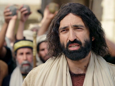 'Very truly I tell you,' Jesus answered, 'before Abraham was born, I am!' – Slide 14