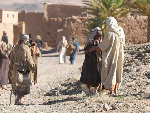 Jesus asked, 'Were not all ten men healed? Where are the other nine? Has no one returned to give praise to God except this foreigner?' – Slide 10