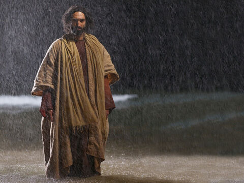 Jesus immediately said to them: 'Take courage! It is I. Don't be afraid.' – Slide 6