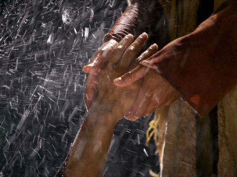Immediately Jesus reached out His hand and caught him. – Slide 11