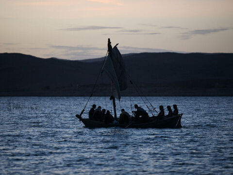 Those in the boat worshiped Jesus, saying, 'Truly you are the Son of God.' – Slide 15