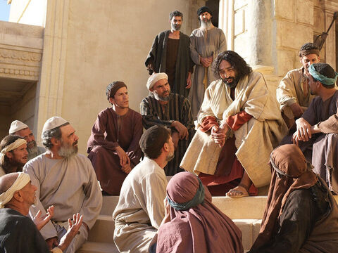 Calling His disciples to Him, Jesus said, 'This poor widow has put more into the treasury than all the others. – Slide 11