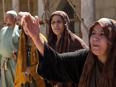 Everyone was amazed and began praising God. They said, 'A great prophet has come to us! God is taking care of His people.' News of this great miracle spread throughout the area and south to Judea and Jerusalem. – Slide 13