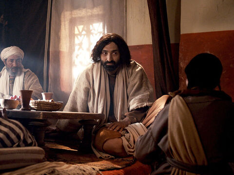 Jesus told Simon this story: 'A man lent money to two people—500 denarii to one and 50 denarii to the other. (A denarii was a day's pay). But neither of them could pay him back. – Slide 7