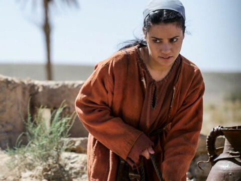 A Samaritan woman came to draw water from the well. Jesus asked her for a drink of water. – Slide 5