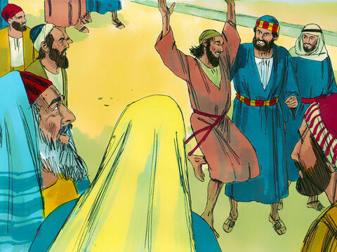 The man began to walk and followed Peter and John into the Temple courts. Then he started walking and jumping and praising God. – Slide 5