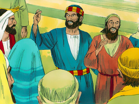 Astonished people started gathering round in the Temple colonnade. 'Why does this surprise you?' Peter asked them. 'It is not by our power or godliness that this man can now walk.' – Slide 6