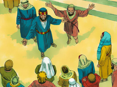'It by faith in the name of Jesus that this man is now completely healed - as you can all see.' – Slide 8