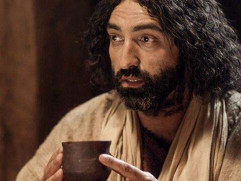 Jesus then took the cup and when He had given thanks, passed it to them. 'This is my blood of the covenant which is poured out for many.' – Slide 8