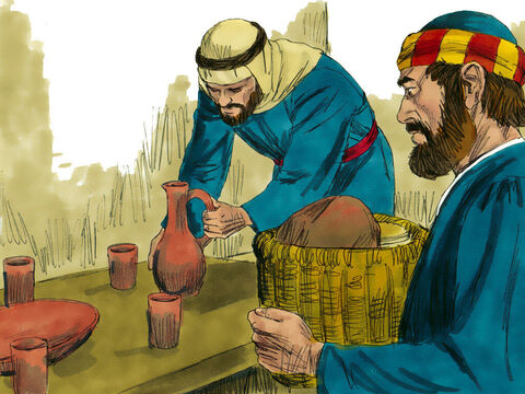 Peter and John set about preparing the Passover meal. – Slide 4