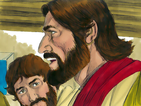 While they were eating, Jesus announced, 'One of you will betray me.' – Slide 9