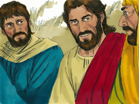 Judas, who was near Jesus, asked, 'Surely you don't mean me?' Jesus answered, 'You have said so.' – Slide 11