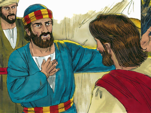 Peter refused to be parted from Jesus. 'Lord, I am ready to go with you to prison and to death,' he declared. Jesus answered, 'Peter, before the rooster crows today, you will deny three times that you know me.' They left the building and headed to a place called the Garden of Gethsemane. – Slide 18