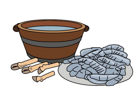 The priest washed the inner organs and legs in water. – Slide 9