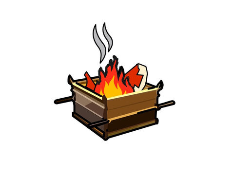 The priest had to burn all the offering on the altar. It was a whole burnt offering made by fire. Its smell was pleasing to the Lord. – Slide 11