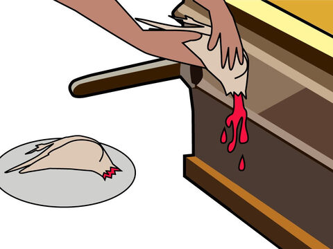 The blood was wrung out on the side of the altar. – Slide 13