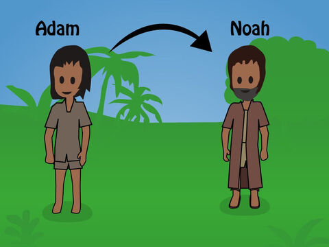 Genesis 5. <br/>This chapter gives a list of the generations between Adam and Noah. This includes Methuselah who lived 782 years. – Slide 5