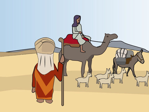Genesis 12: <br/>God calls Abram to leave Ur and go to Canaan and he obeys. When facing famine he goes to Egypt but returns. – Slide 3