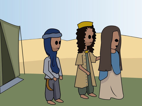 Genesis 20: <br/>Abraham lies about Sarah and Abimelek takes her as his wife. But God immediately intervenes to stop this and restore Sarah to Abraham. – Slide 11