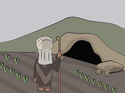 Genesis 23: <br/>Sarah dies and is buried in a cave on land Abraham has purchased from the Hittites. – Slide 14