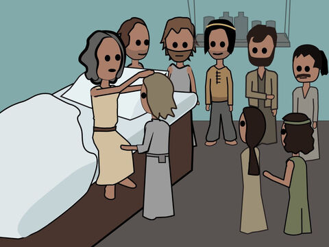 Genesis 49. <br/>Jacob blesses his own sons and then dies. – Slide 14