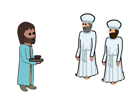 The offering was then brought to the priests (the sons of Aaron). – Slide 9