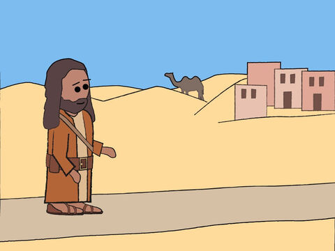 John the Baptist began preaching out in the wilderness of Judea. – Slide 1