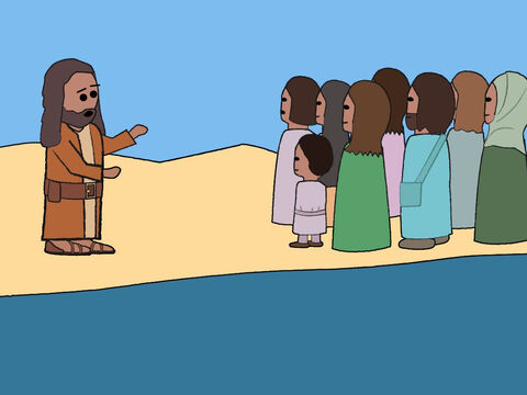People from Jerusalem and all around Judea went to the wilderness to hear John preach. – Slide 5