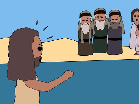 When John saw the religious leaders, who did not obey God, listening to him, he spoke against them. – Slide 7
