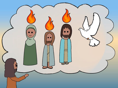 John, of course, was speaking about Jesus. He said, 'This Person will baptise you with the Holy Spirit and with fire. – Slide 14
