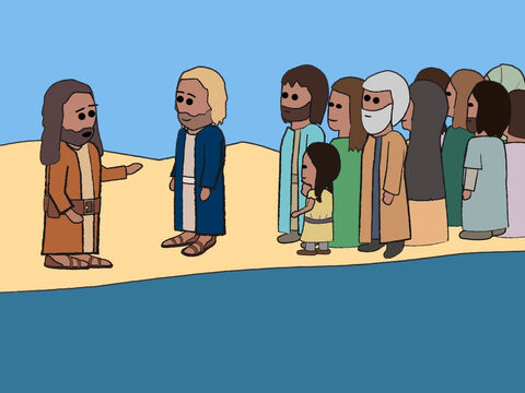 John didn't want to do this. 'This isn't proper,' he said. 'I am the one who needs to be baptised by you.' – Slide 17