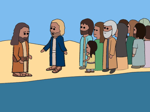 But Jesus said, 'Please do it, for I must do everything that is right.' So John baptised Jesus. – Slide 18