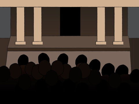 The crowd outside was waiting for Zecharias and kept wondering why he was staying so long in the temple. – Slide 11