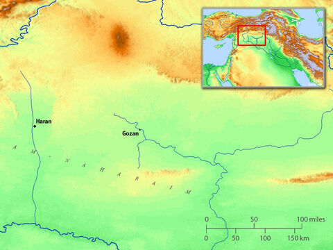 Map showing Haran (where Abraham stopped on his journey to Canaan). – Slide 7