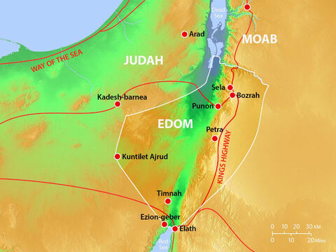 Major towns and cities in Edom with major trade routes. – Slide 11