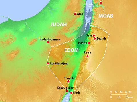 Major towns and cities in Edom. – Slide 13