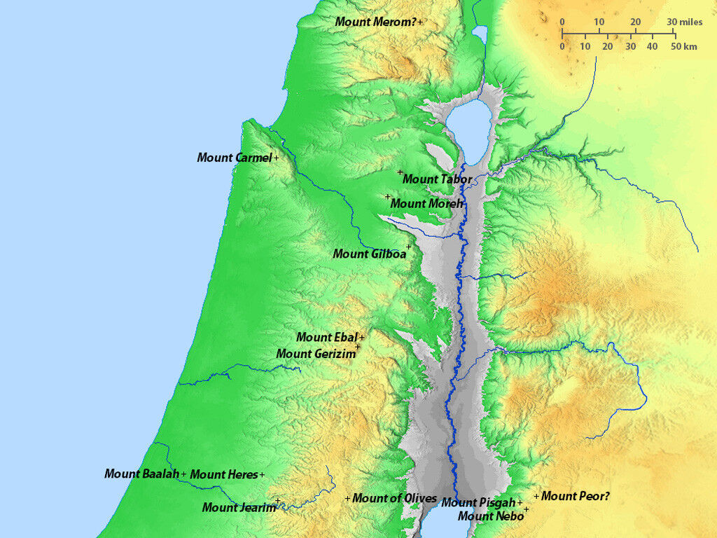 FreeBibleimages :: Maps - Israel in the Old Testament era ...