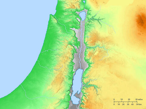 Blank map of Israel and immediate region. – Slide 1