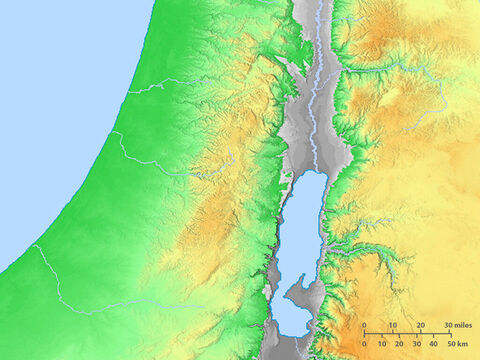 Blank map of the Dead Sea and immediate region. – Slide 3