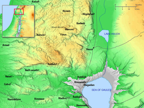 North-west region of the Sea of Galilee. – Slide 27