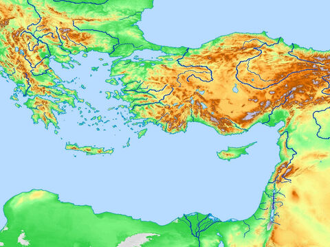 Blank map of Eastern Mediterranean. – Slide 1