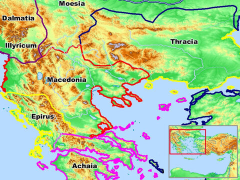 Regions of the Roman Empire – Dalmatia, Illyricum, Macedonia, Epirus, Achaia, Moesia and Thracia. – Slide 3