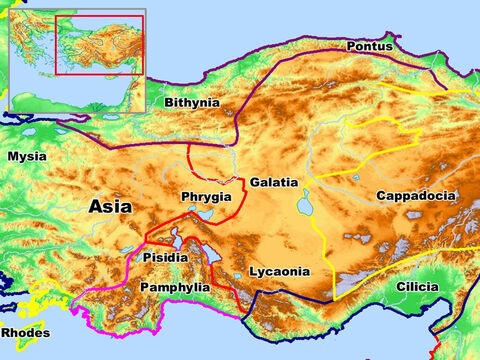 Regions of the Roman Empire – Bithynia, Pontus, Mysia, Pisidia, Pamphylia, Phrygia, Galatia, Lycaonia, Cilicia, and Cappadocia. – Slide 4