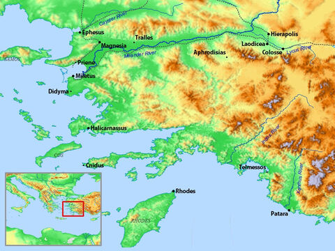 Coastal region of South-west Asia extending from Ephesus and Miletus to Patara. – Slide 18