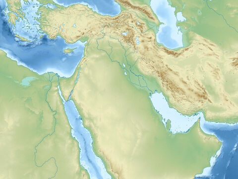 Topographical map of the Middle East. – Slide 1