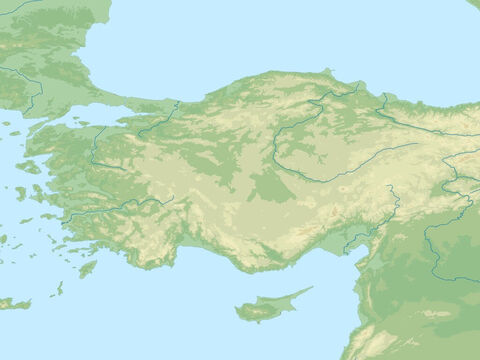 Black Sea (top right), Mediterranean Sea (lower left), Asia minor (modern day Turkey), Taurus mountains, Syrian desert (right). Region visited by Paul on all his missionary trips. – Slide 7