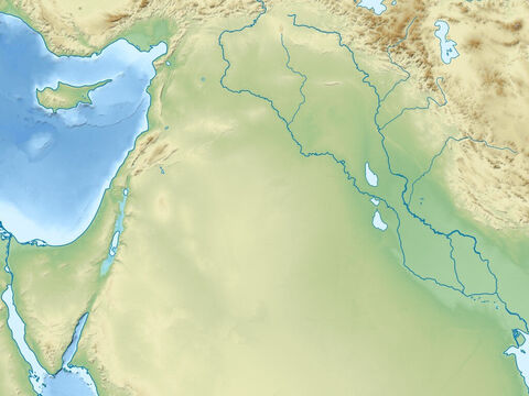 Plains of river Tigres (right) and Euphrates (left). Syrian and Arabian deserts. Region of ancient Assyrian and Babylonian empires. – Slide 8